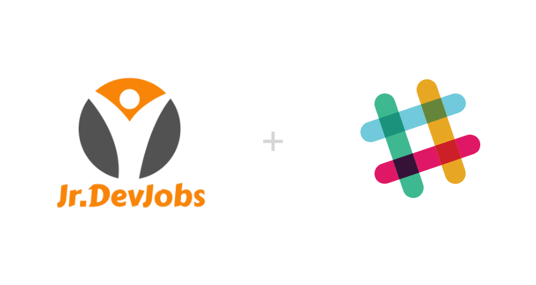 Jr.DevJobs and Slack Logo